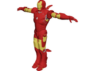 Iron Man [Rigged] 3D Model