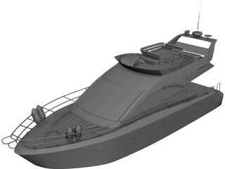 Sealine T52 Kristeff Yacht 3D Model