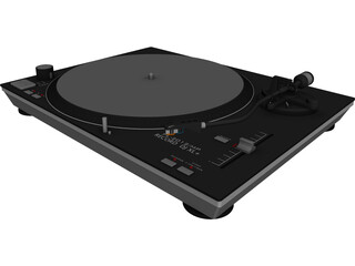 Record Turntable 3D Model