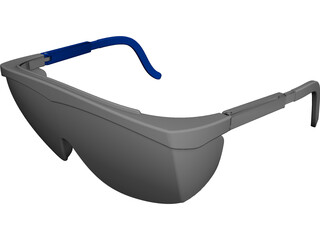 Safety Glasses CAD 3D Model