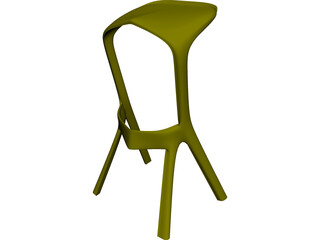 Kamura Bar Chair 3D Model