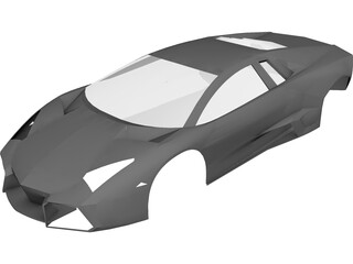 Lamborghini Reventon Body CAD 3D Model