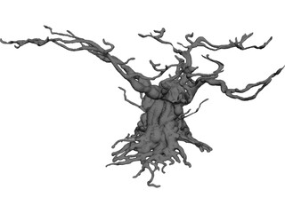 Gnarled Tree 3D Model
