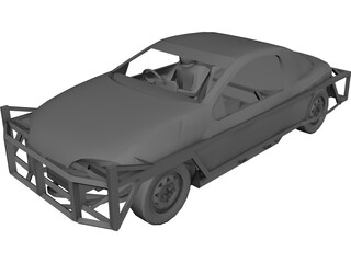 Opel Tigra 1300 Stockcar 3D Model
