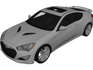Hyundai Genesis Coupe (2012) 3D Model