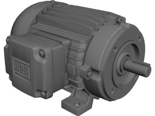 Weg 75hp Motor CAD 3D Model