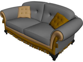 Sofa Classic Design 3D Model