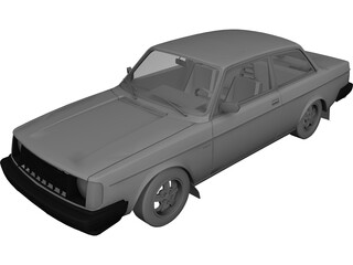 Volvo 242 Turbo (1976) 3D Model