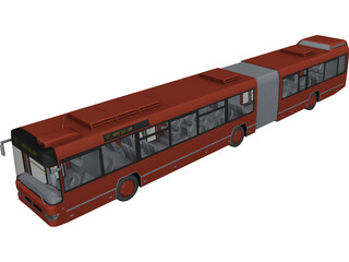 Volvo Bus Double 3D Model