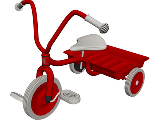 Tricycle Child 3D Model