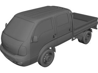 Kia K2700 Double Cab 3D Model