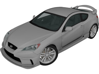 Hyundai Genesis Coupe Sport (2010) 3D Model