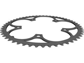 Chainring 53T CAD 3D Model