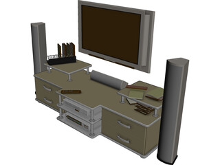Philips Cinema TV Stand 3D Model