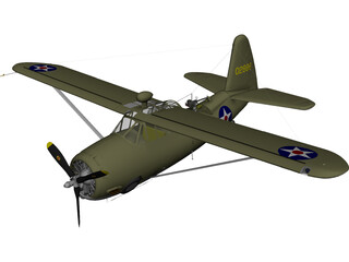Curtiss O-52 Owl 3D Model