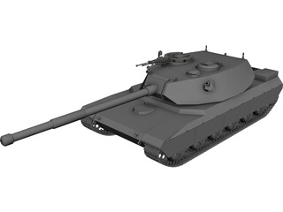 T-102 Russian Heavy Tank 3D Model