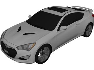 Hyundai Genesis Coupe (2013) 3D Model