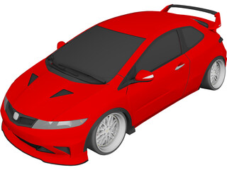 Honda Civic [Tuned] 3D Model