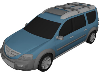 Dacia Logan Steppe Concept (2006) 3D Model