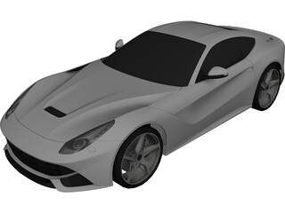 Ferrari F12 Berlinetta 3D Model 3D Preview