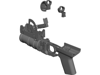 Airsoft GP-30 Grenade Launcher CAD 3D Model