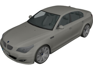 BMW 5-series E60 3D Model 3D Preview