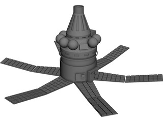 Military Satellite Flash 1T 3D Model 3D Preview
