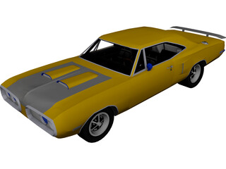 Dodge Super Bee (1970) 3D Model
