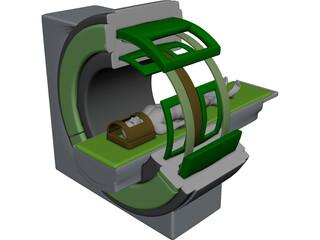Magnetic Resonance Tomograph 3D Model