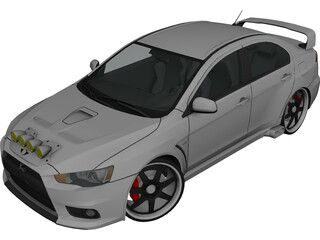 Mitsubishi Lancer Evo X [Tuned] 3D Model