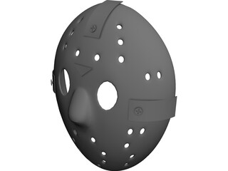 Jason Hockey Goalie Mask 3D Model