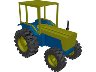 Toy Tractor CAD 3D Model