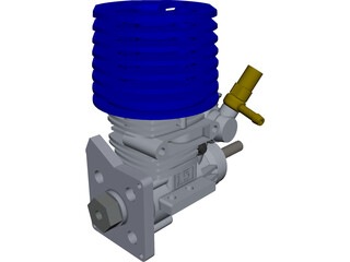 RC Model Car Engine .15cc 2-Stroke CAD 3D Model