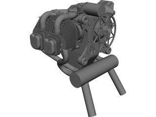 UL260i Engine CAD 3D Model