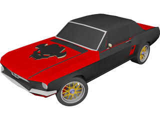 Ford Mustang (1967) [Tuned] 3D Model
