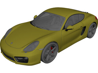Porsche Cayman S (2013) 3D Model 3D Preview