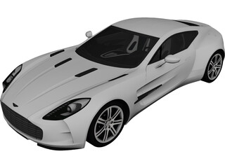 Aston Martin ONE-77 (2010) 3D Model 3D Preview