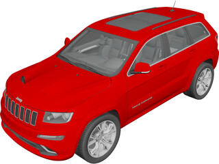 Jeep Grand Cherokee SRT8 (2012) 3D Model