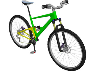 Mountain Bike Full Suspension 3D Model
