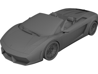 Lamborghini Gallardo LP560-4 Spyder (2011) 3D Model