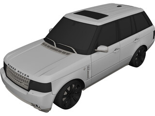 Range Rover Sport (2012) 3D Model 3D Preview