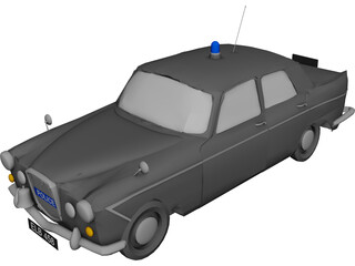 Wolseley 6/110 Metropolitan Police 3D Model