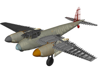 de Havilland Mosquito RC Plane 3D Model