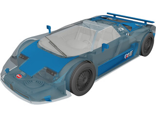 Bugatti EB110 3D Model 3D Preview