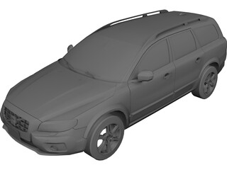 Volvo XC70 3D Model 3D Preview