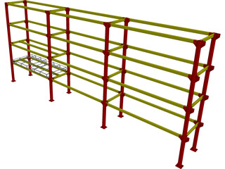 Pallet Rack Heavy Duty CAD 3D Model