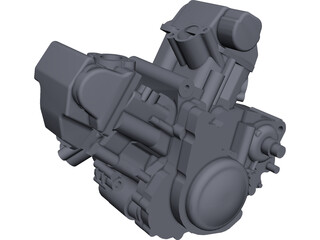 Aprilia SXV 550 Engine CAD 3D Model