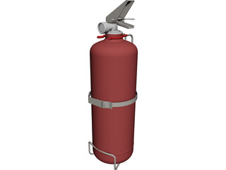Fire Extinguisher CAD 3D Model