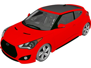 Hyundai Veloster Turbo (2013) 3D Model