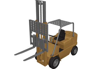 Forklift 3D Model 3D Preview
